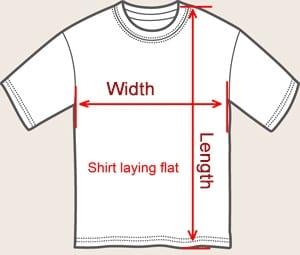 All shirts/tanks measured like THIS.